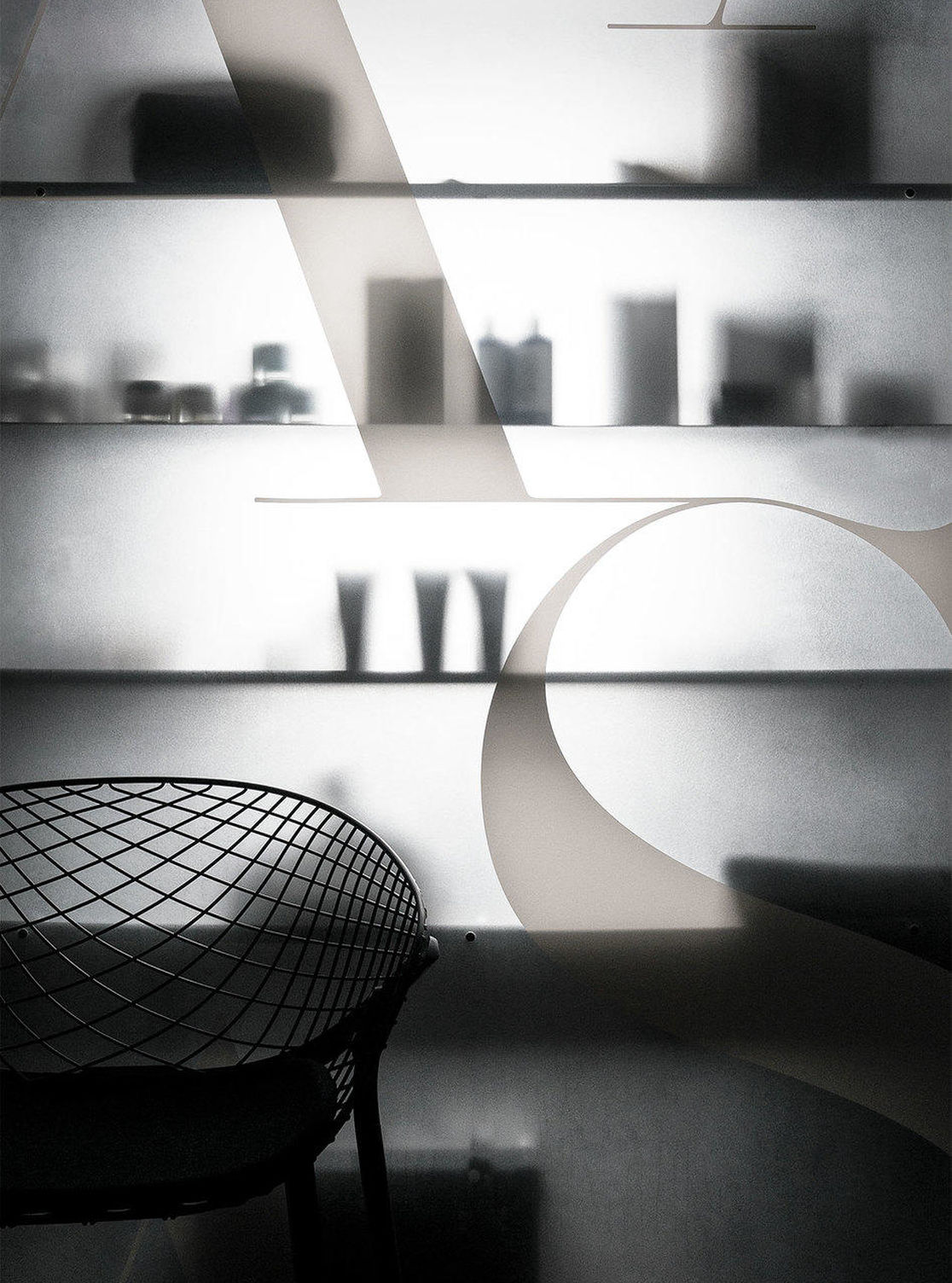 Art + Science Frosted Glass Interior Detail