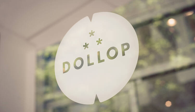 Dollop Coffee & Tea Storefront Vinyl