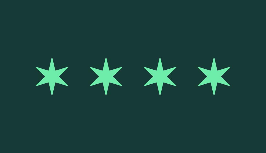 Stars of the Chicago flag light green on dark green