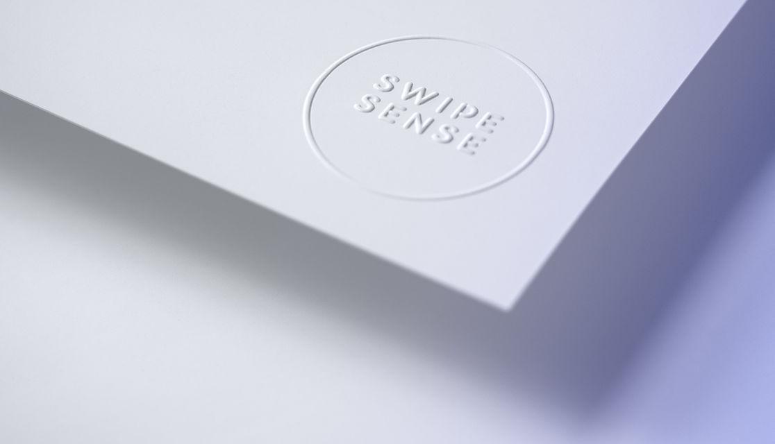 SwipeSense Embossed Logo Detail